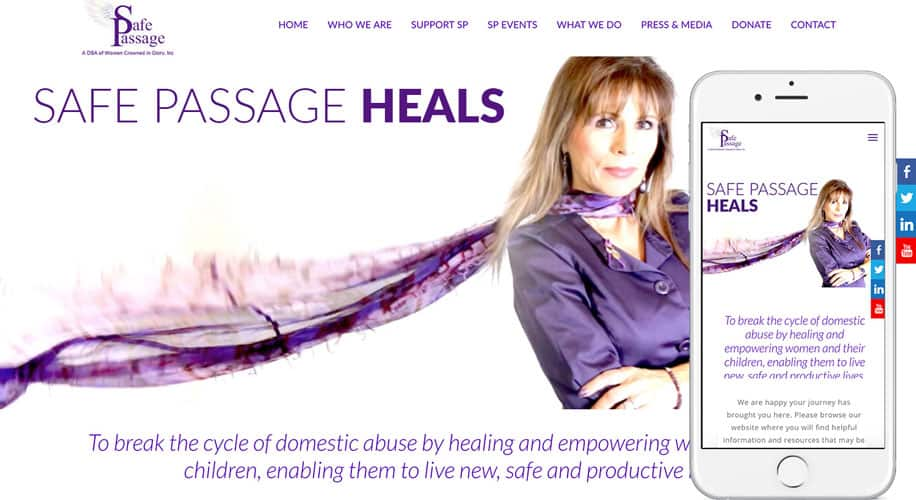 SafePassageHeals.org-homepage-w-iphone6s-by-The-Web-Stylist.com