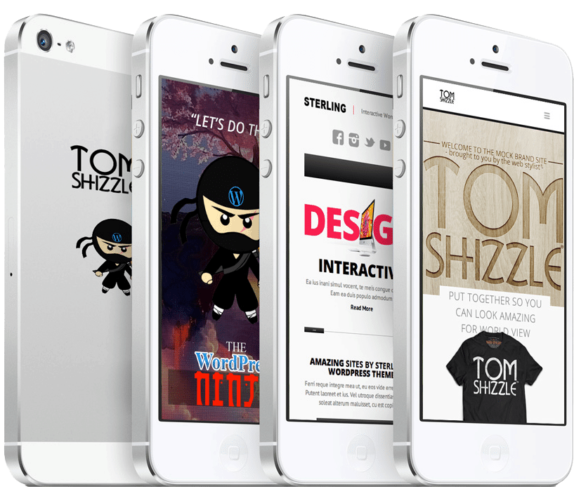 TOM SHIZZLE™site & brand mockups by The WordPress Ninja!