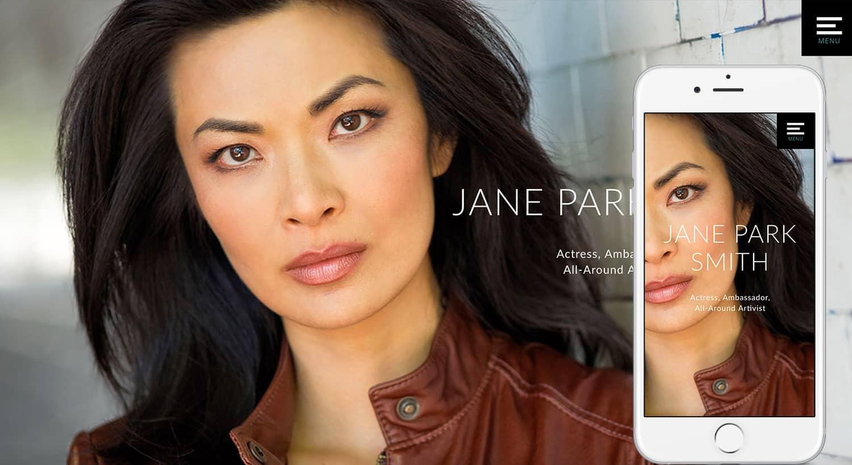 JaneParkSmith.com-Homepage-iPhone6s-by-TheWordPressNinja.com