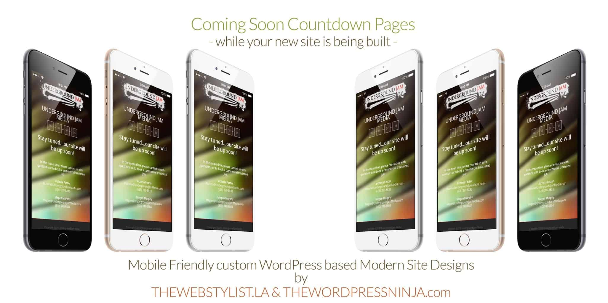 iPHONE6 Coming Soon Countdown Brand Mockups