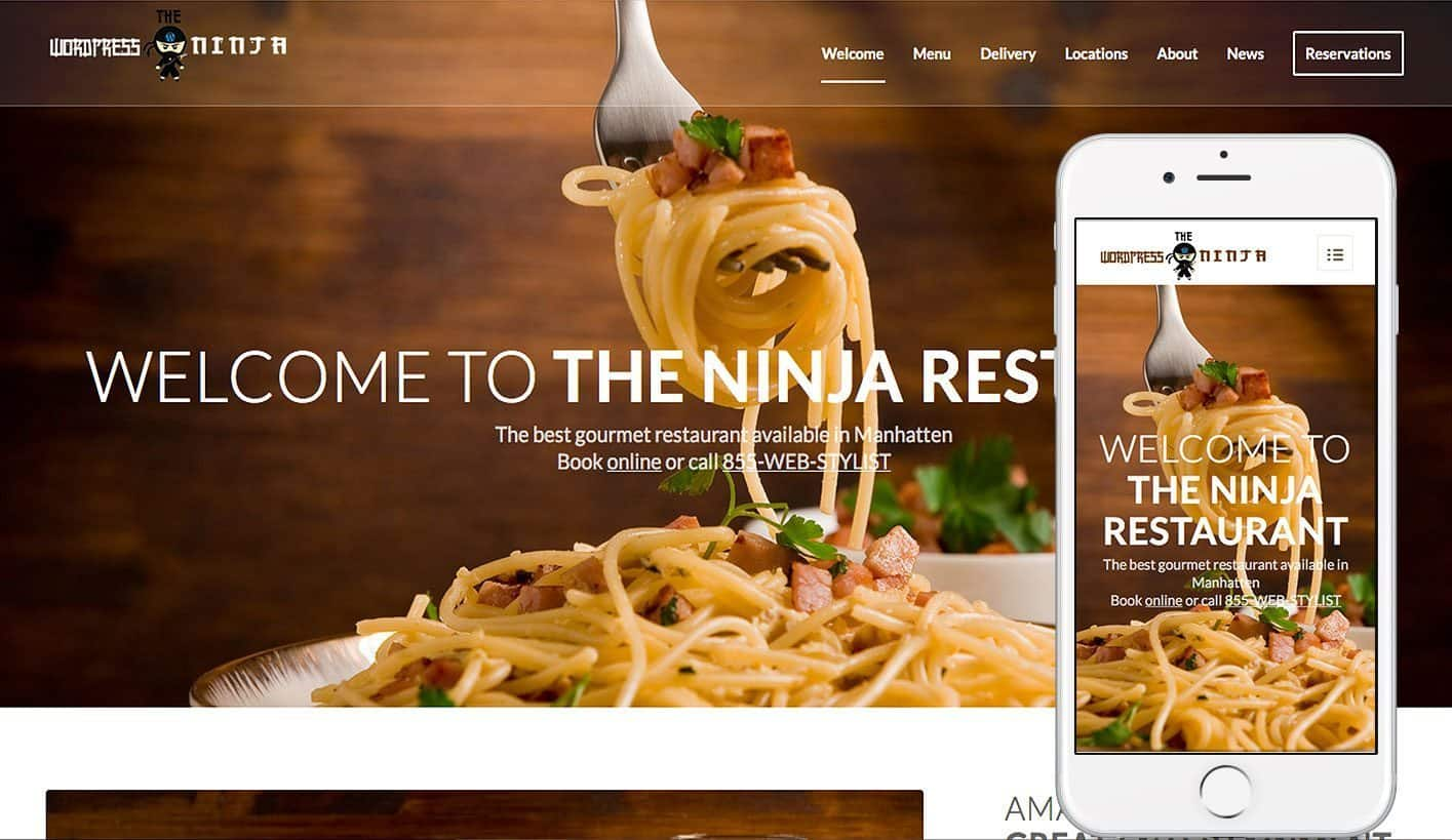 ENFOLD based Restaurant Demo by -The WordPress Ninja
