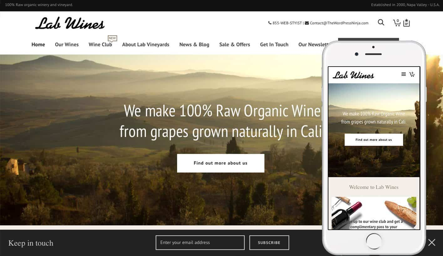 ATELIER WP Theme – WineCountry.TheWordPressNinja.com