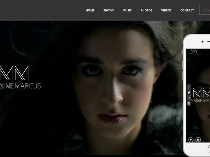 MaxineMarcus.com-homepage-iphone6splus-byTheWordPressNinja.com
