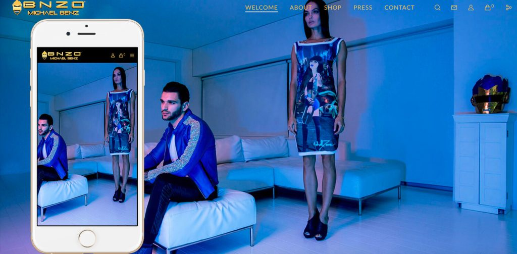 BeBnzo.com-homepage-blue-iphone6s-by-The-Web-Stylist