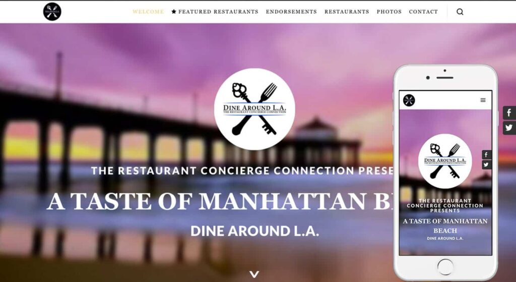 DineAroundLA-homepagescreenshot-iPhone6s-clientpromo-by-The-Web-Stylist